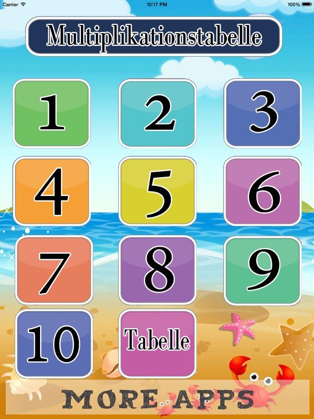 Multiplikationstabelle lite on the App Store