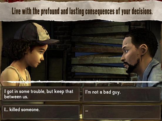 Ipad Screen Shot Walking Dead: The Game 3