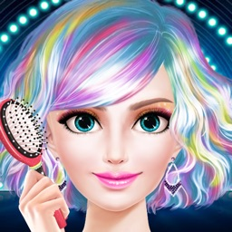 Celebrity Star Hair Beauty Salon - Spa, Makeup & Dressup Girls Makeover Game