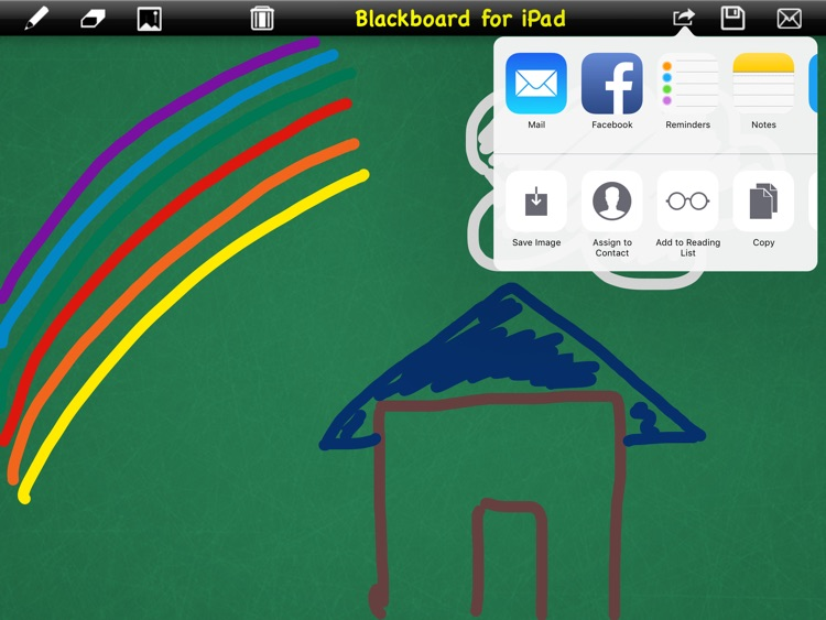 Blackboard to write or draw for iPad screenshot-4