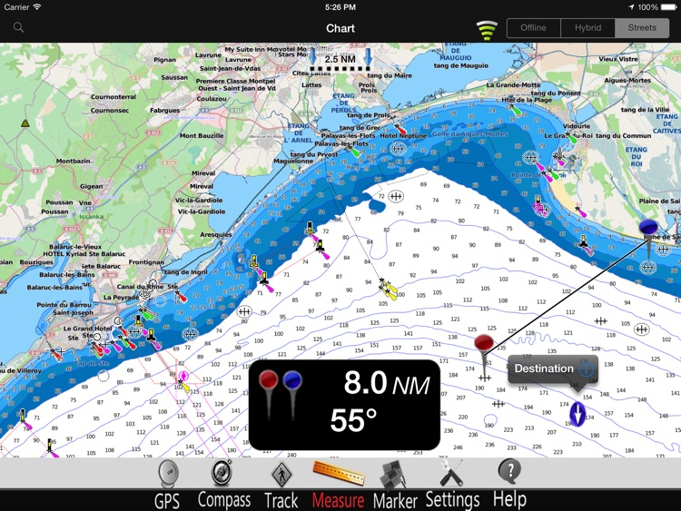 France Mediterranean GPS Nautical charts pro screenshot-2