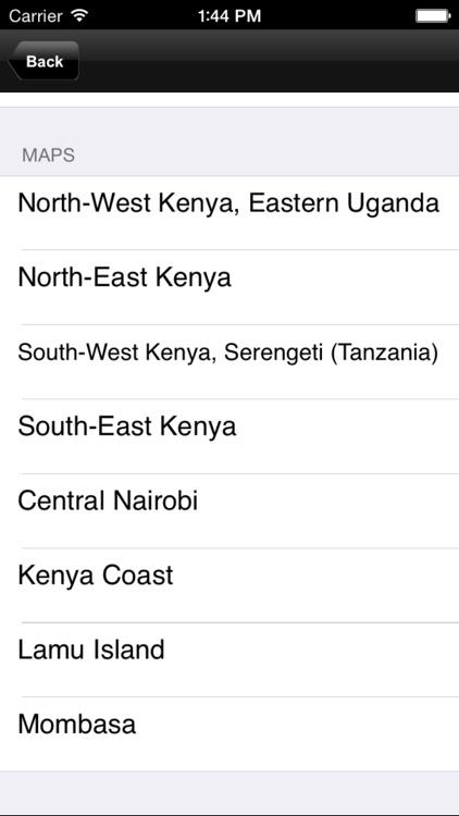 Kenya. Tourist map