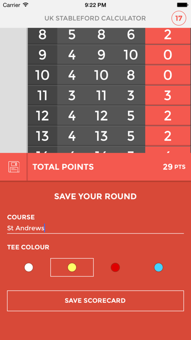 UK Stableford Calculator screenshot four