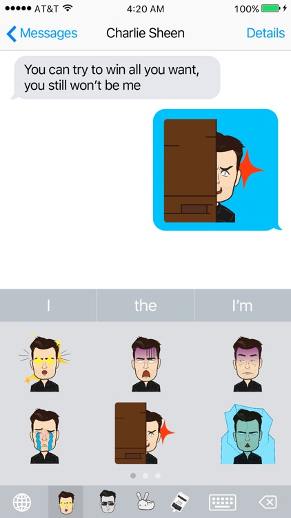 Sheenoji - The Charlie Sheen Keyboard screenshot-3