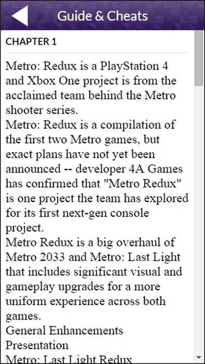 PRO - Metro Redux Game Version Guide