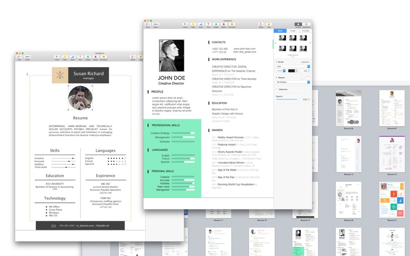 Resume & CV Expert - Templates for Pages Screenshots