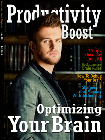 Screenshot of Productivity Boost Magazine