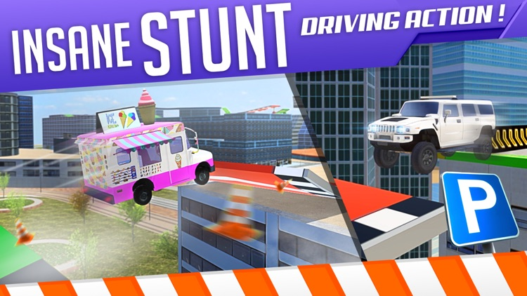 Roof Jumping 3 Stunt Driver Parking Simulator an Extreme Real Car Racing Game screenshot-3