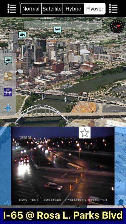 Tennessee NOAA Radar with Traffic Cameras 3D Pro screenshot-3