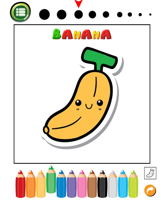 Screenshot 3 For Fruits And Vegetables Phonics Coloring Book English Vocabulary Learning Free