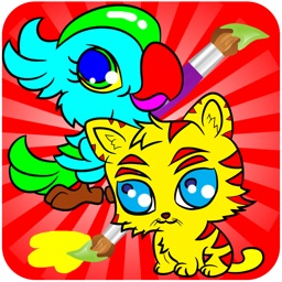 Animal Coloring Books - Drawing Painting  Games For Kids