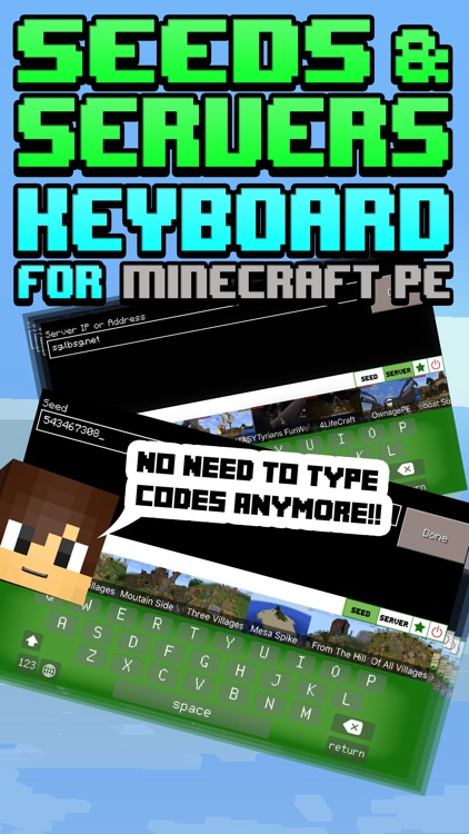 Seeds & Servers MCPE - Multiplayer Seed & Server Keyboard for Minecraft  Pocket Edition by BeeInTime Ltd