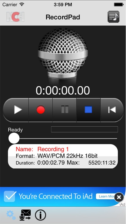 RecordPad Sound Recorder Plus screenshot-3