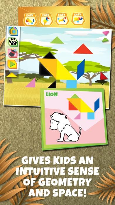 点击获取Kids Learning Puzzles: Safari Animal, K12 Tangram
