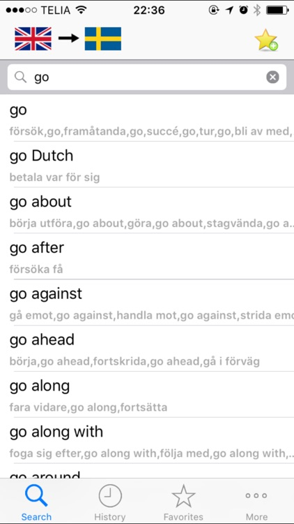 Dict.SE Swedish - English - Swedish dictionary (lexikon) screenshot-1