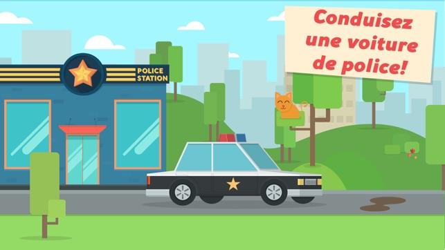 enfants petite voiture -patrouille de police jeu pour les garçons