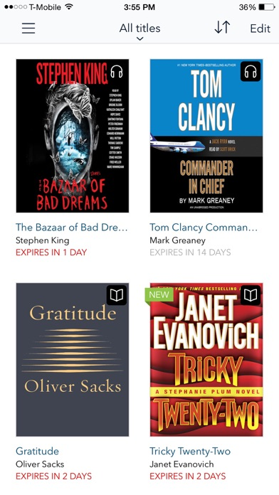Screenshot for OverDrive: eBooks & audiobooks in United States App Store