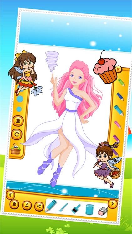 Beauty Fairy Princess Coloring Book Drawing for Kid Games screenshot-3