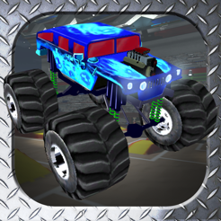 3d monster truck smash parking nitro car crush arena simulator