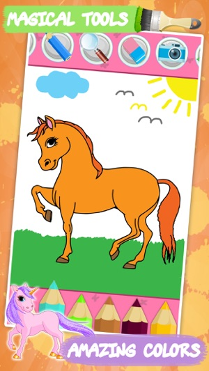 Unicorn coloring book for kids on the App Store