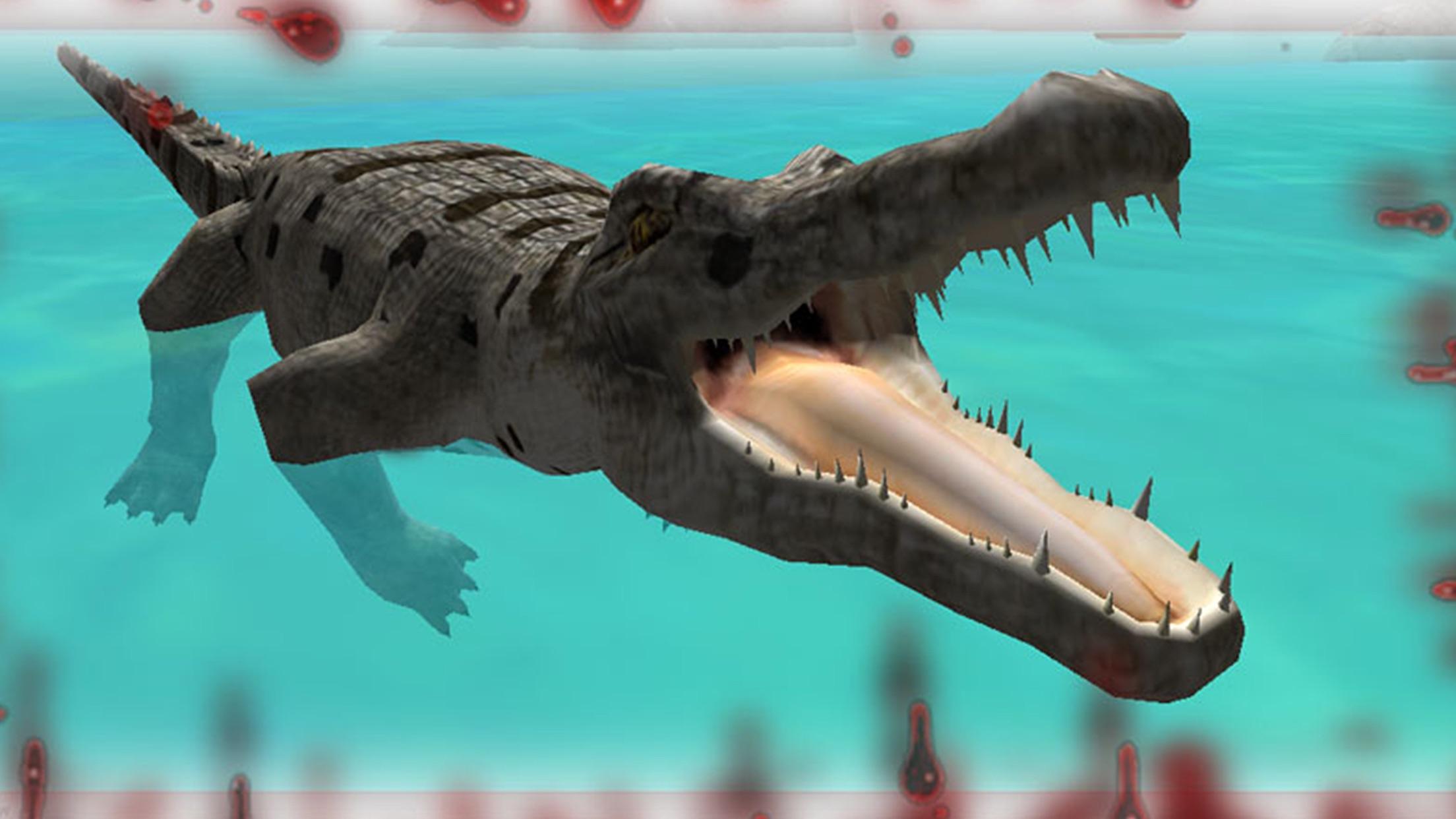Wild Hungry Crocodile 3D. Swamp Aligator Attack in WildLife Simulator 2016 Screenshot