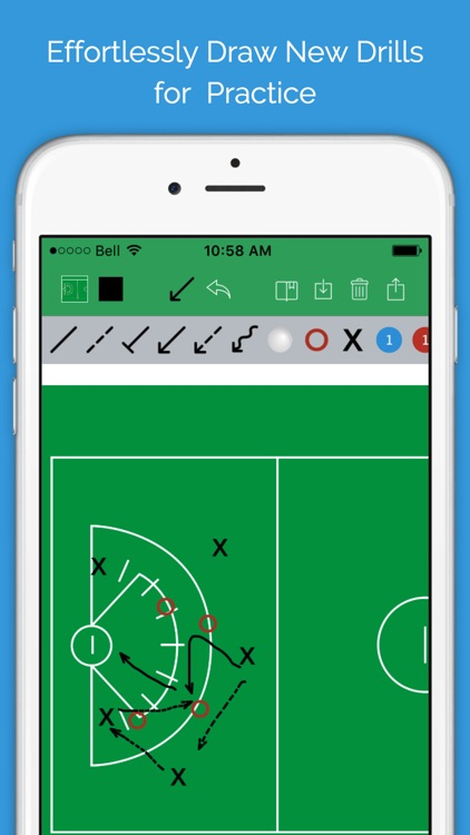 Lacrosse Blueprint - Men's Clipboard Drawing tool for Coaches screenshot-2