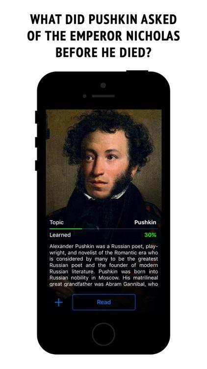 Pushkin - interactive book