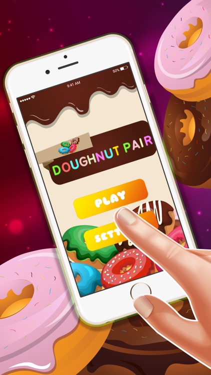 Doughnut Pair hd lite free : - The easy connect game for boys and girls