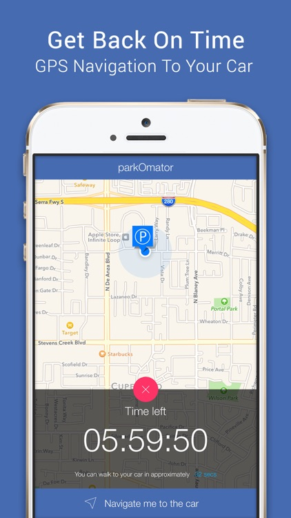 parkOmator – for Apple Watch meter expiration timer, notifications & GPS navigator to car location