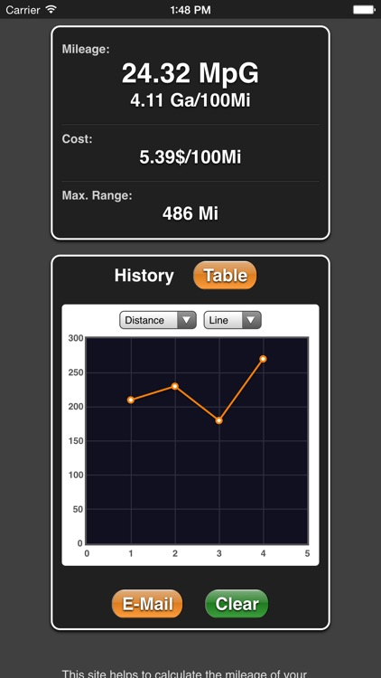 Mileage screenshot-2