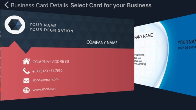Business card creator quickly create and design your visiting card business card creator quickly create and design your visiting card maker on the app store reheart Choice Image