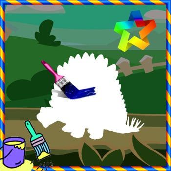 Paint Kids Page Game Dino Free Edition