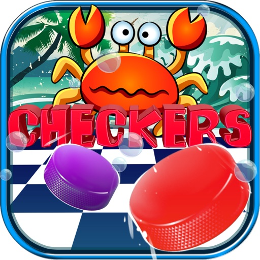 "Checkers Boards Puzzle Pro - "" Sea Animals Games with Friends Edition """
