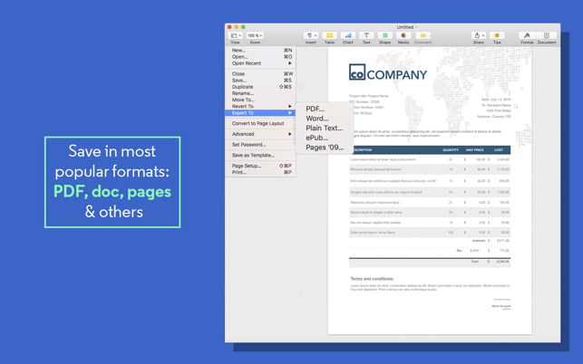 Invoice Templates For Pages On The Mac App Store
