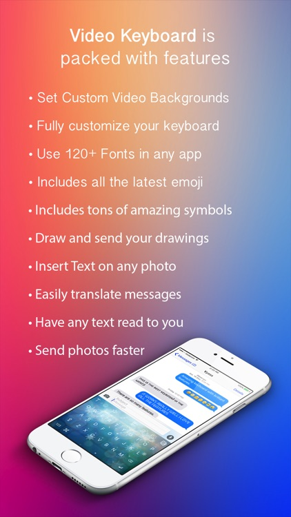 VideoKeys Keyboard - Set any video background and use symbols,fonts and new emoji screenshot-4