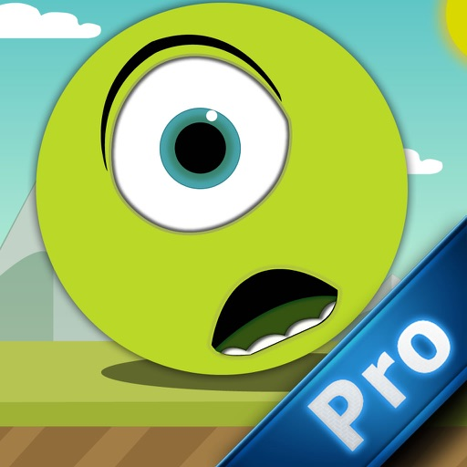 Green Bouncing Ball PRO - Avoid The Spikes and Escape From The Geometry World