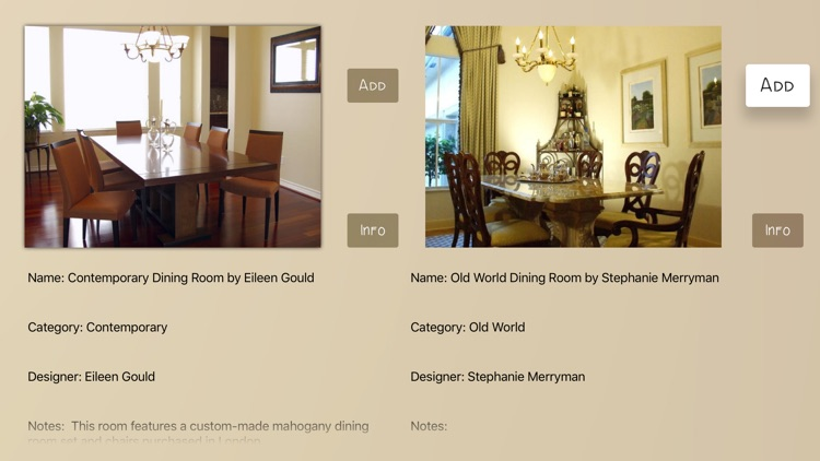 Dining Rooms Database