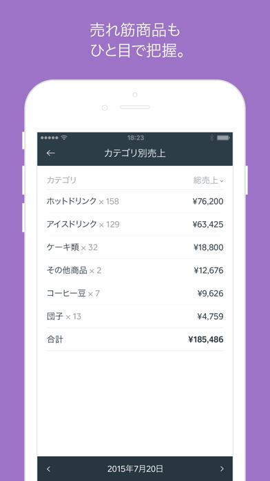Squareデータアプリ - リアルタイムな売上解析アプリ。 ScreenShot2