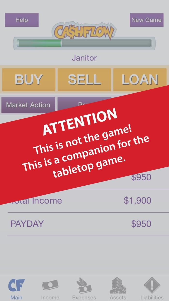 CASHFLOW Financial Statement Calculator Screenshot