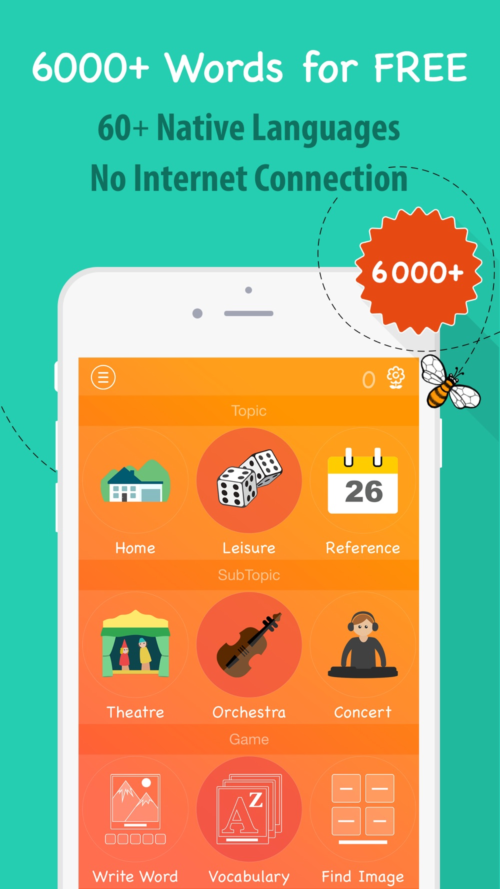 6000 Words – Learn Korean Language for Free