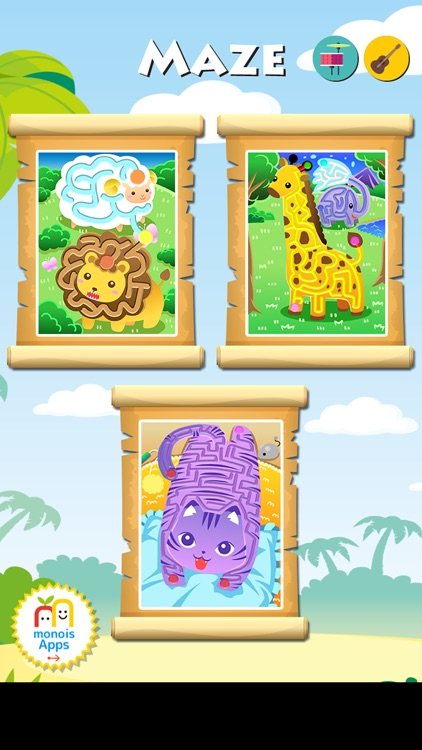 Animal Mazes - Funny educational App for Baby & Infant screenshot-3