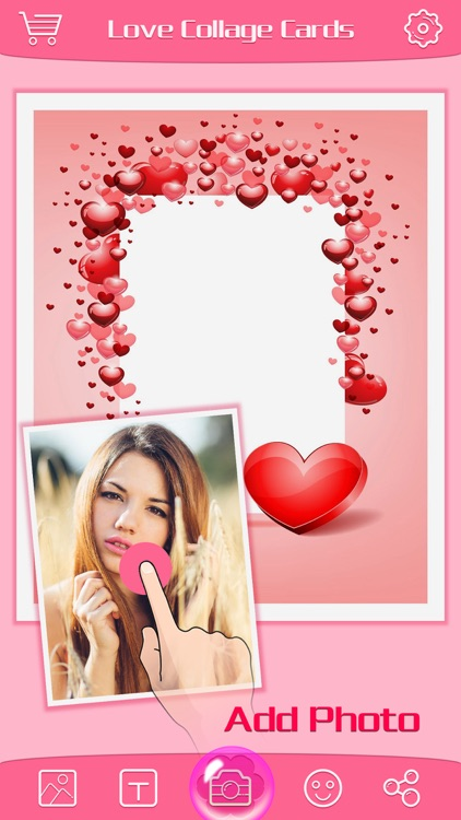 Love Greeting Cards Maker Pro - Picture Frames for Valentine's Day & Kawaii Photo Editor screenshot-3