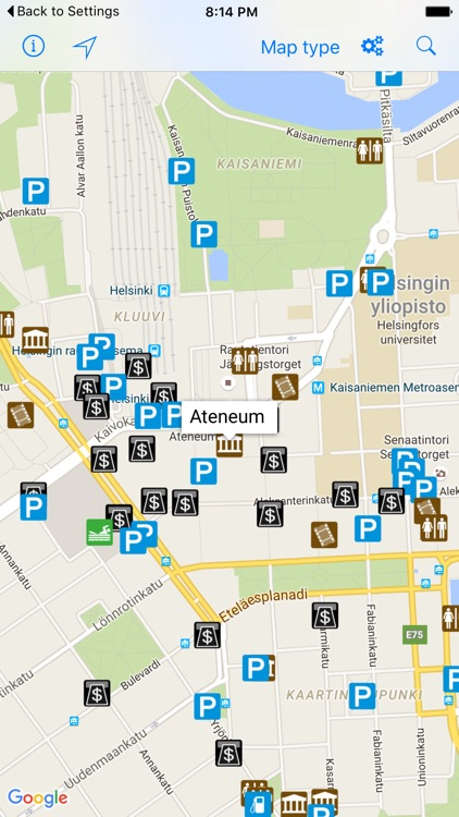 Leisuremap Finland, Camping, Golf, Swimming, Car parks, and more