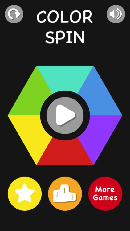 Color Spin - Match The Color Of The Dropping Balls With The Spinning Hexagon