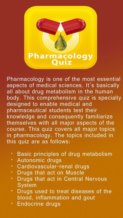 Pharmacology Quiz, Science of Drugs by Information