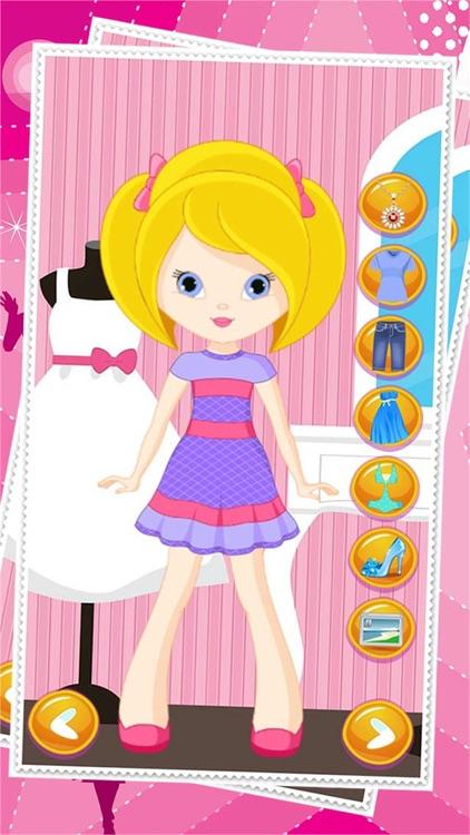 Little Girl Dress Up Dolls - Fashion Makeover Game For Girls screenshot-3