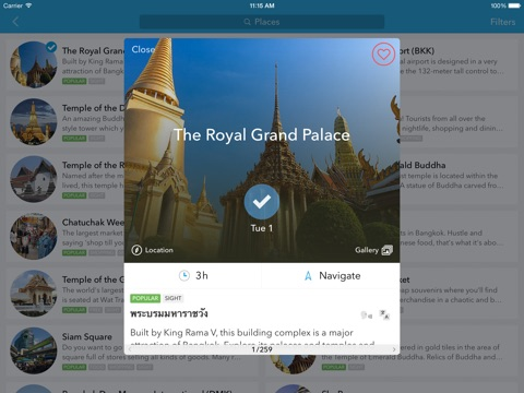 Trip Planner, Travel Guide & Offline City Map for Thailand, Indonesia, Malaysia, India, Cambodia, Vietnam and Singapore iPad
