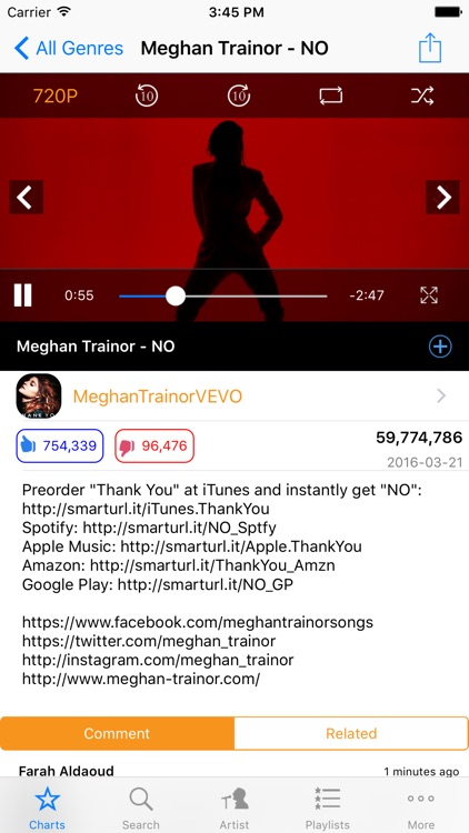 Smart MusicTube for Youtube--Top 100 music video player by