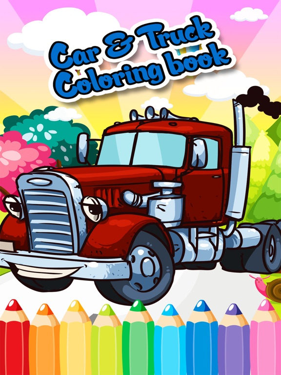 Moving Vehicle Coloring Pages: 10 Fun Cars, Trucks, Trains (and ... | 768x576