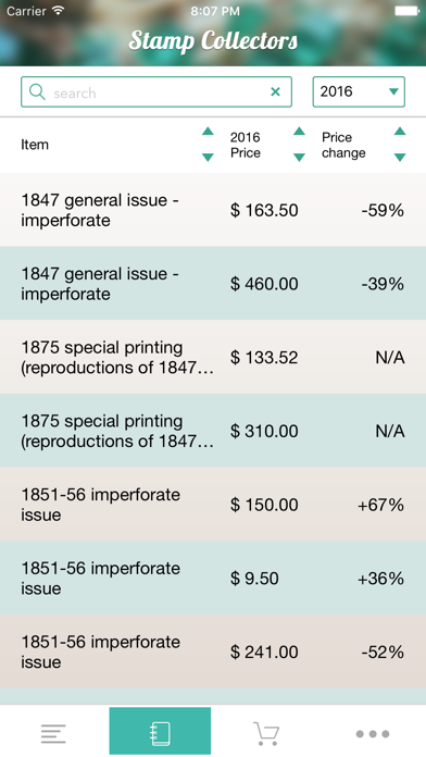 Stamp Collecting - A Price Guide For Stamp Values Screenshot